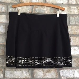 EXPRESS AWESOME STRETCH STUDDED MINI SKATER SKIRT